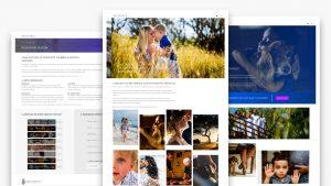 Planeación, diseño y desarrollo de sitio web para fotógrafos.